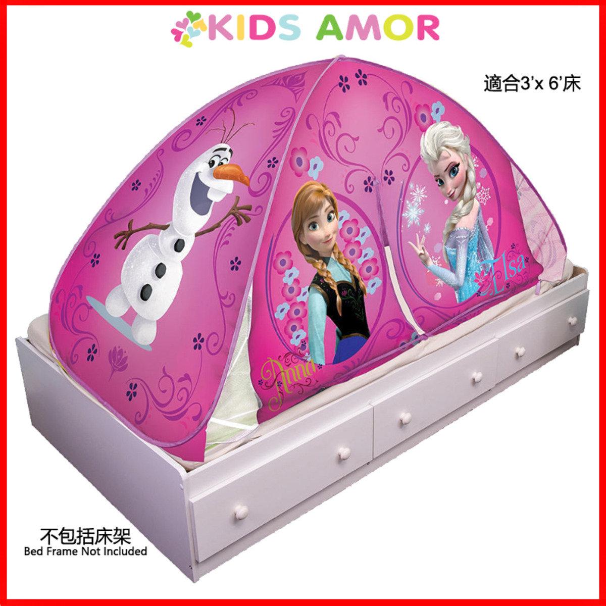迪士尼魔雪奇緣床蓬 (適合3'x6'床) + 按燈