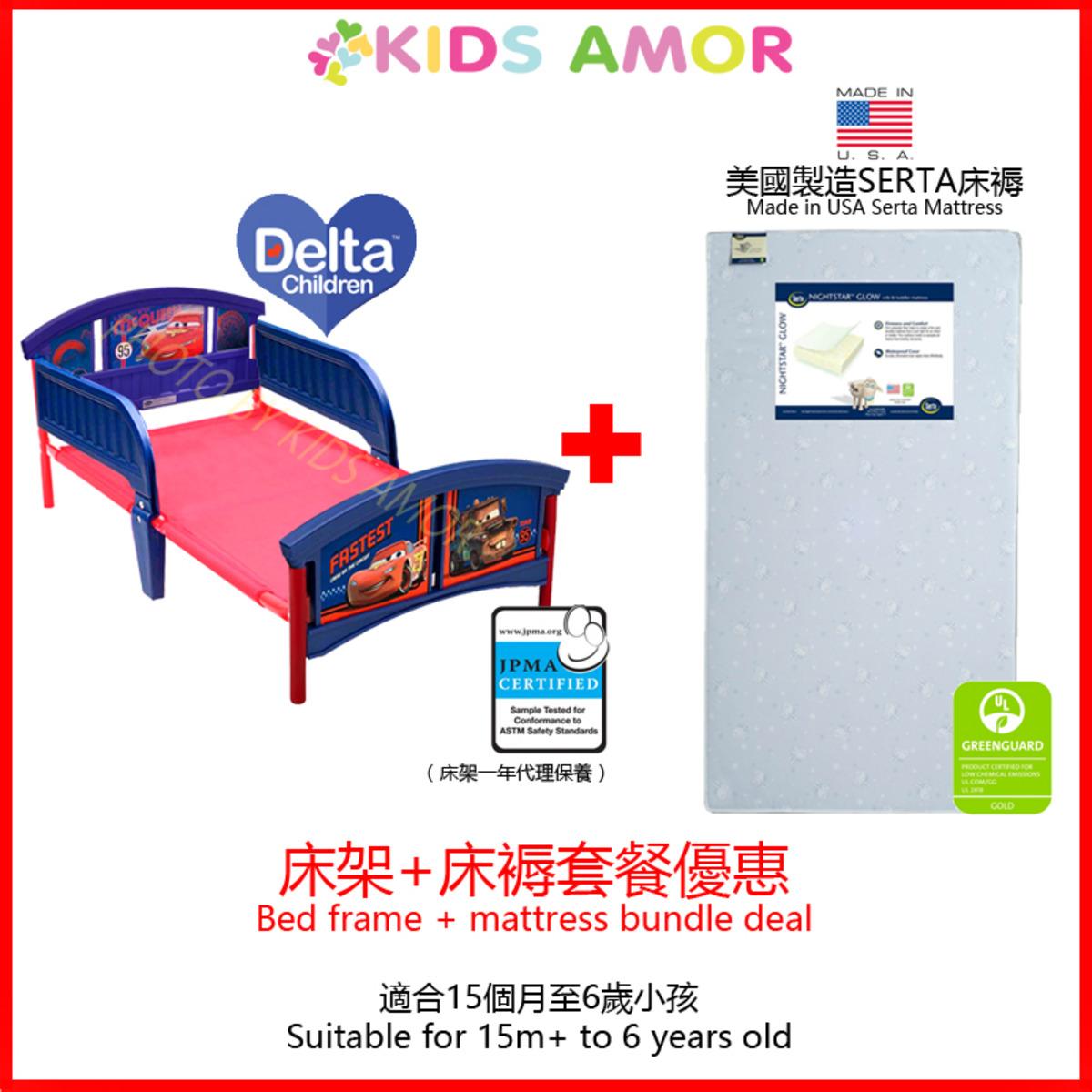 迪士尼反斗車王床架 + 美國製造 Serta 床褥