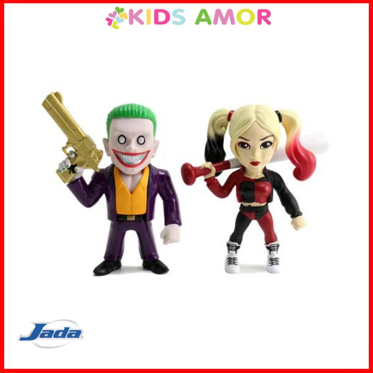 """4"""" 合金FIGURE: 自殺特攻孖裝小丑+小丑女 Joker + Harley Quinn"""