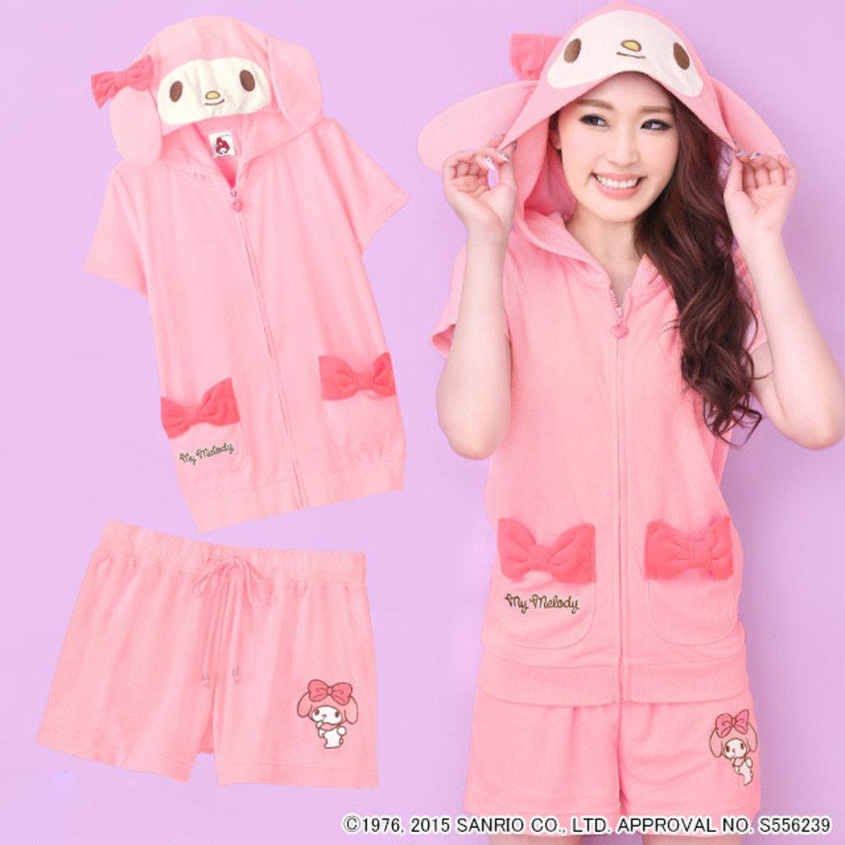SANRIO Hello Kitty My Melody 外套短褲套裝 - 中碼