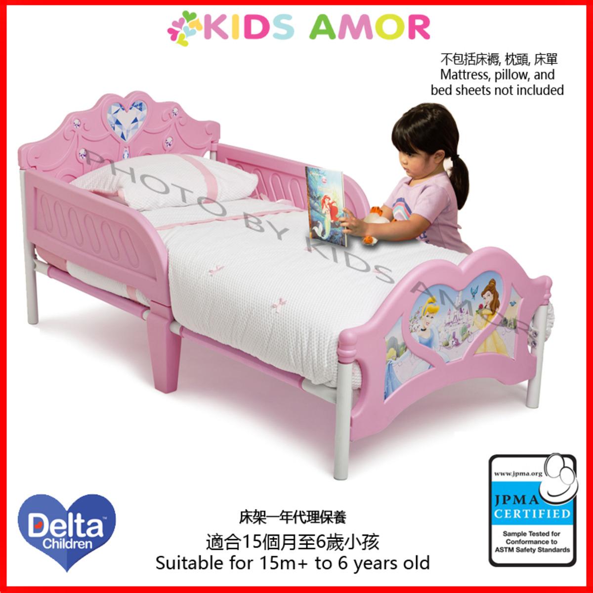 迪士尼公主兒童床架(一年有限保養)