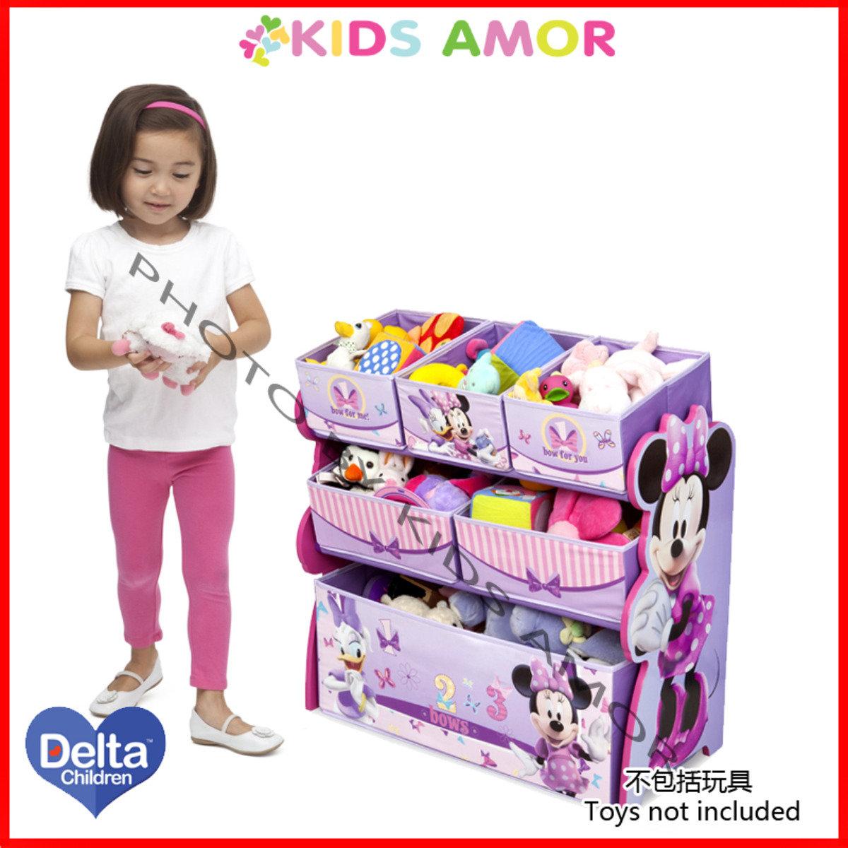 美國Delta迪士尼米妮老鼠玩具收納架