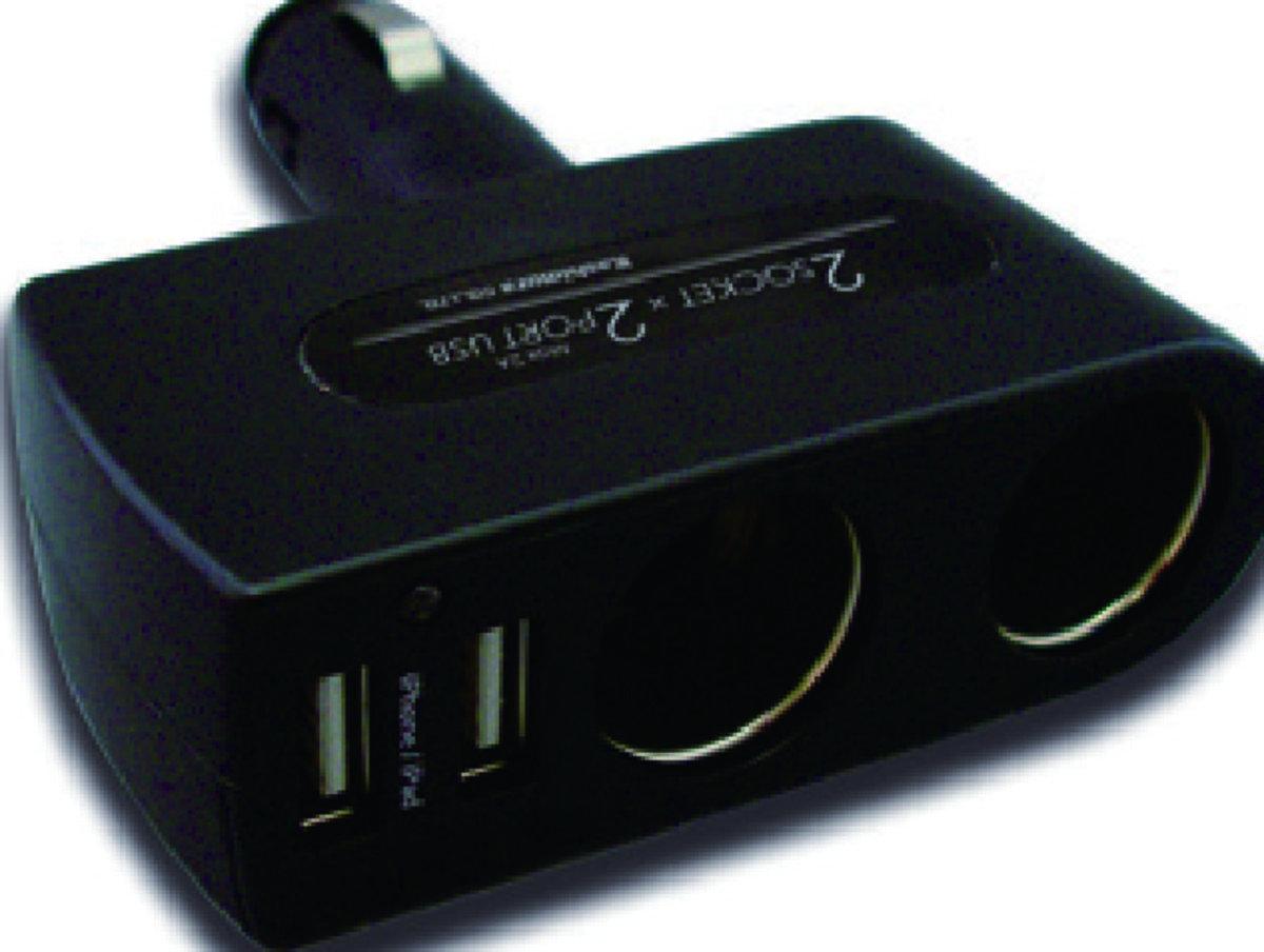 KX-176車用擴展插座連USB充電器 (直插式) / 車充