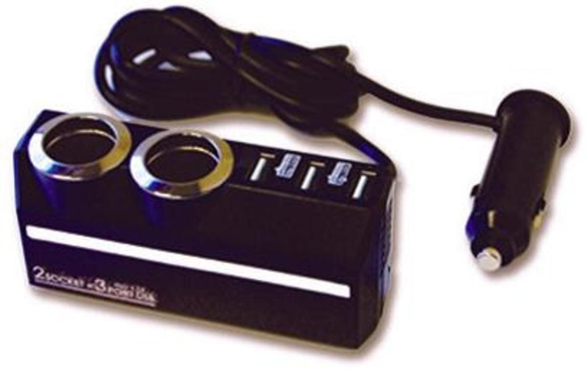 KX-179車用擴展插座連USB充電器 (帶線式) / 車充