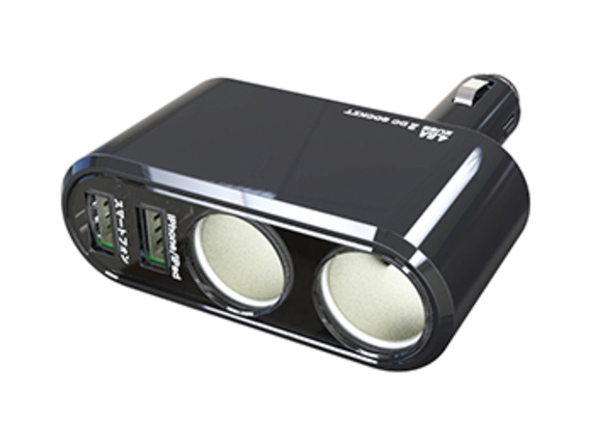 KX-183車用擴展插座連USB充電器 (直插式) / 車充