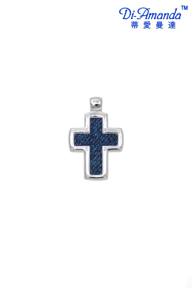 牛仔布十字架吊墜