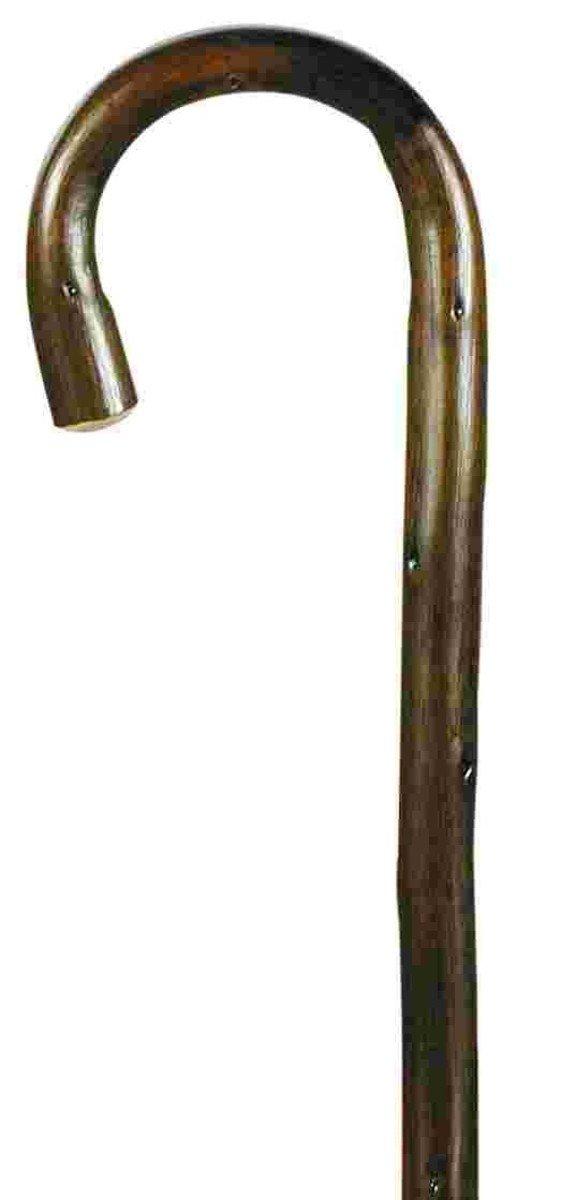 棕色圓柄實木手杖
