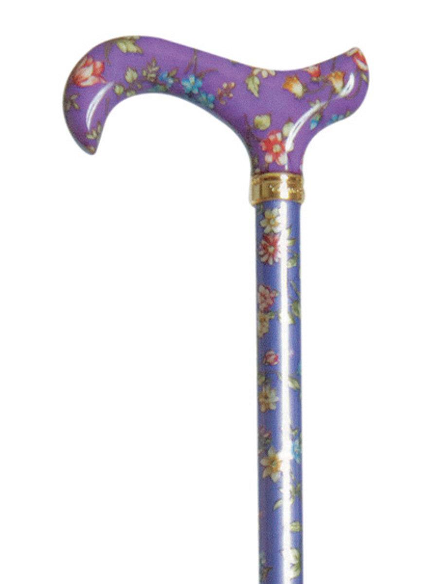 時尚可調較打吡手杖 ﹣ 紫花