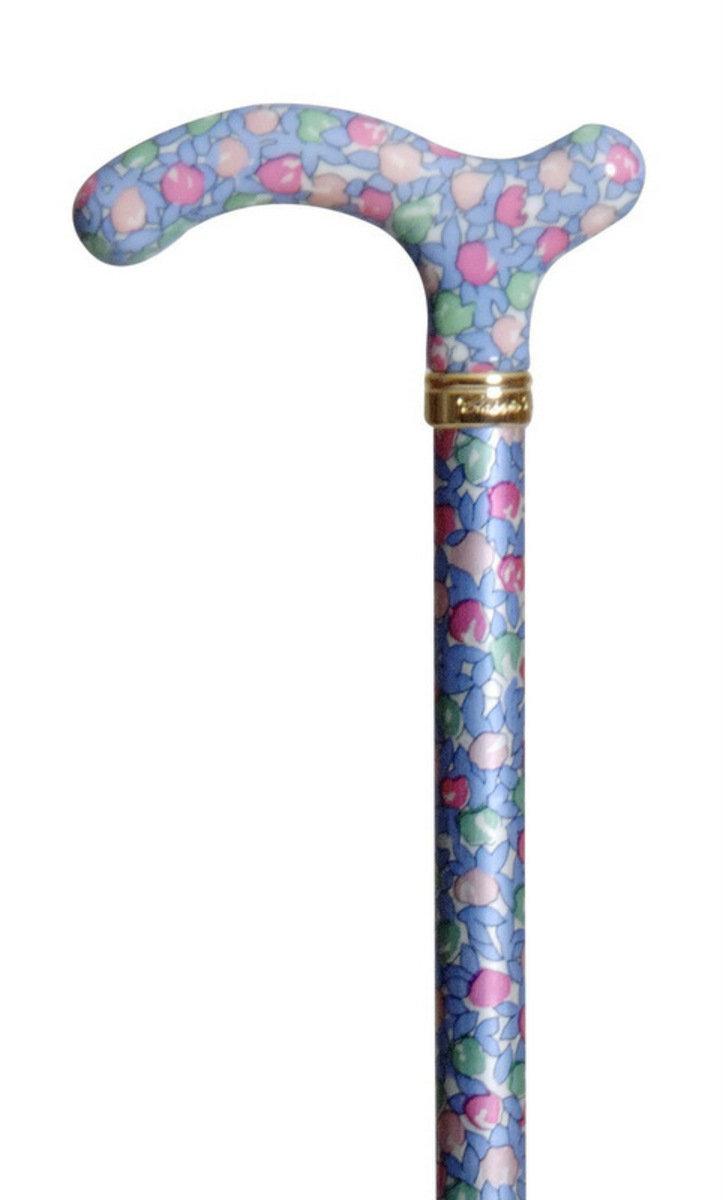 纖巧可調較拐杖 ﹣ 藍粉紅花