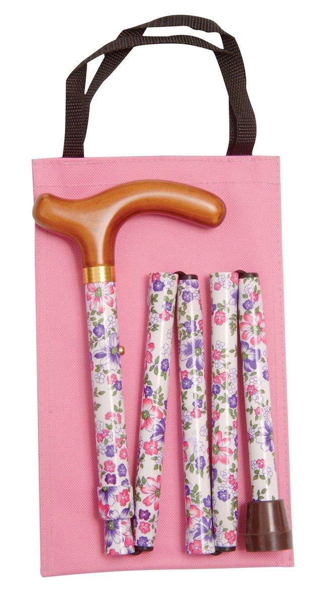 可摺式手杖連袋套裝 - 紫花