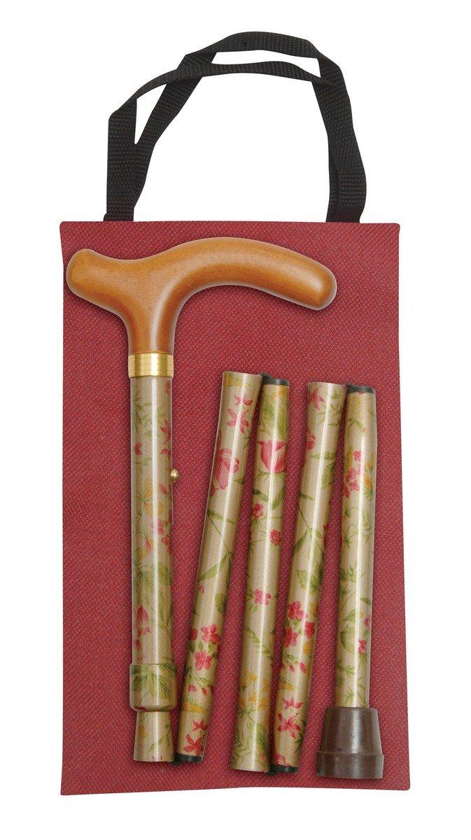 可摺式手杖連袋套裝 - 金花