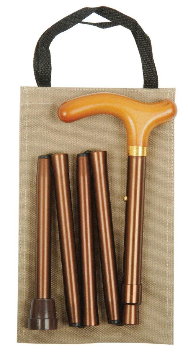 可摺式手杖連袋套裝 - 金色