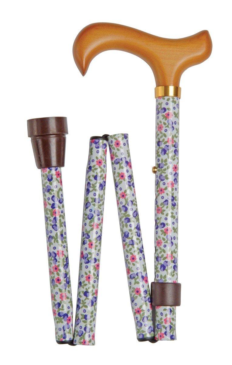 可摺式手杖 ﹣ 白花