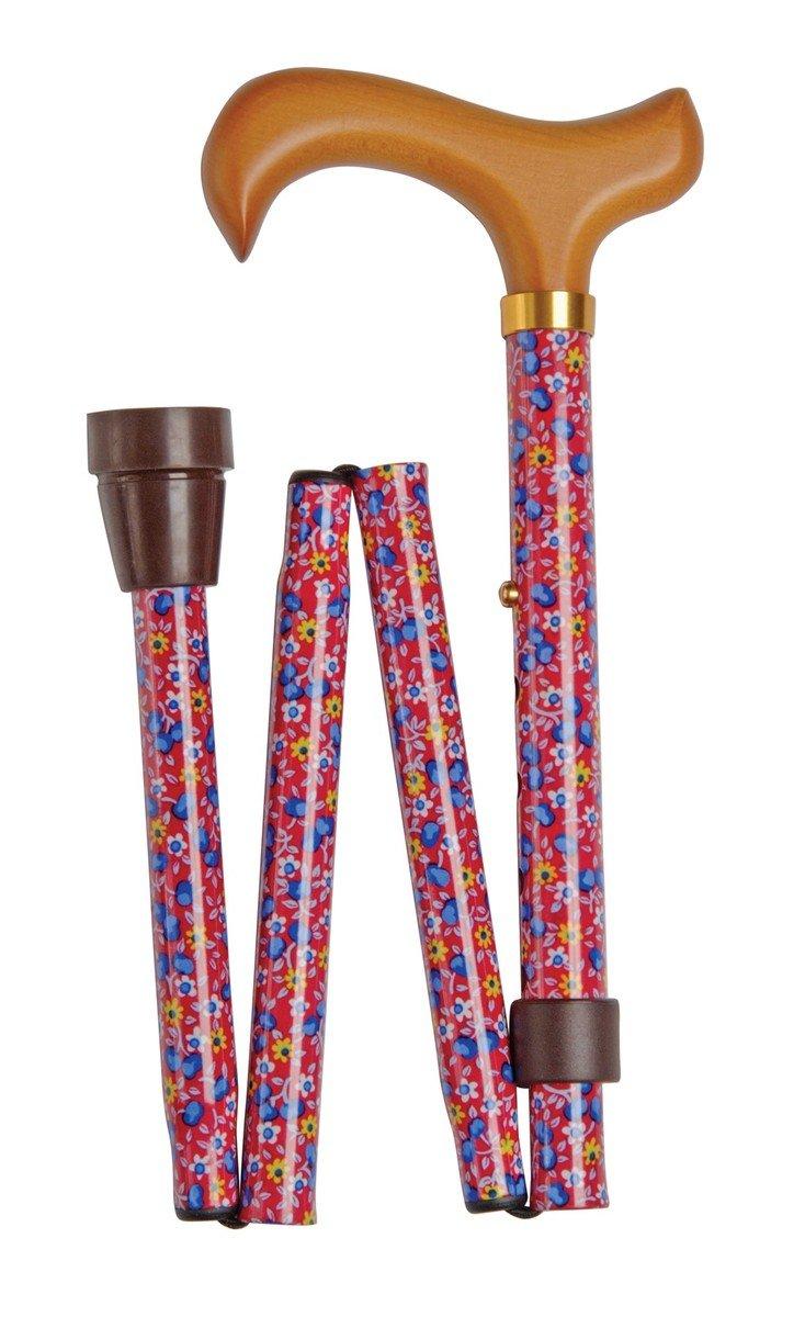 可摺式手杖 ﹣ 紅藍花