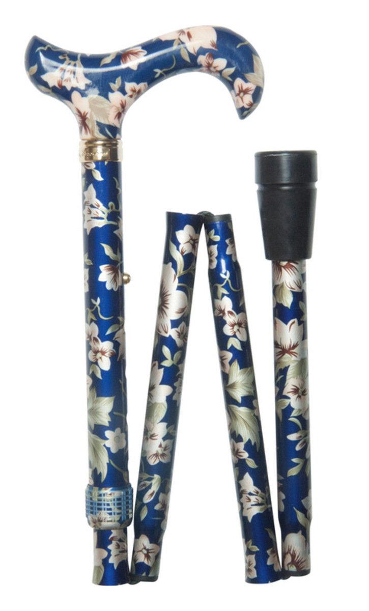 時尚可摺式打吡手杖 ﹣ 藍花