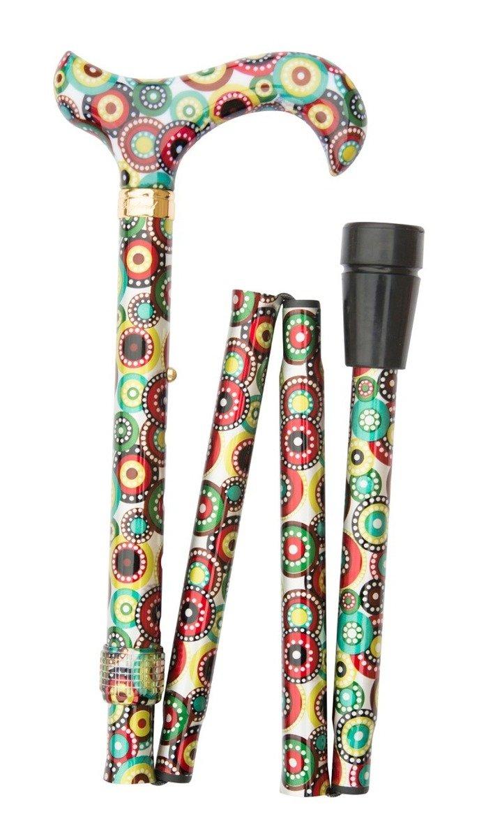 時尚可摺式打吡手杖 ﹣ 復古圓