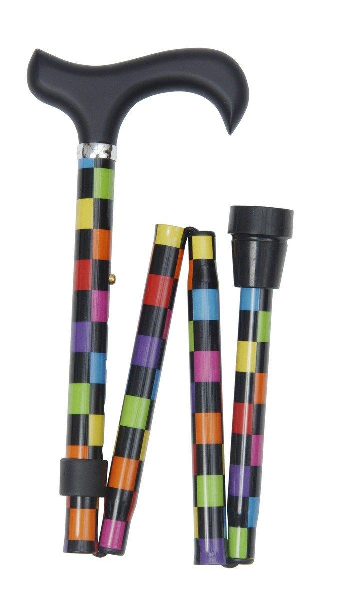 可摺式手杖 ﹣ 彩色方格