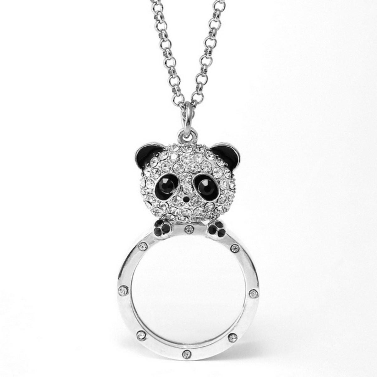 熊貓放大鏡頸鍊