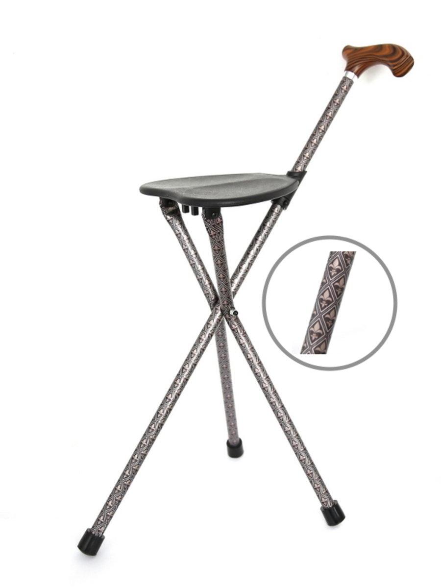 台灣鋁合金手杖椅-型格黑