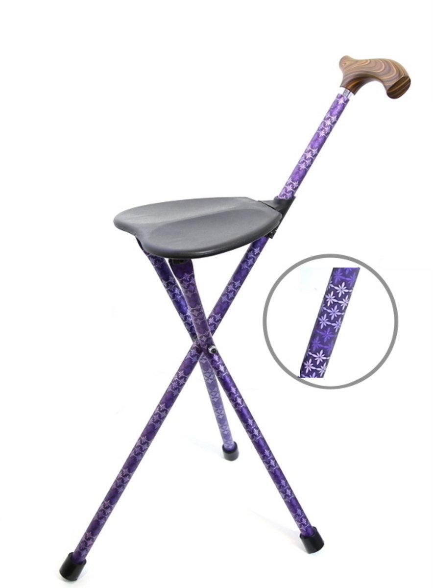 台灣鋁合金手杖椅-優雅紫