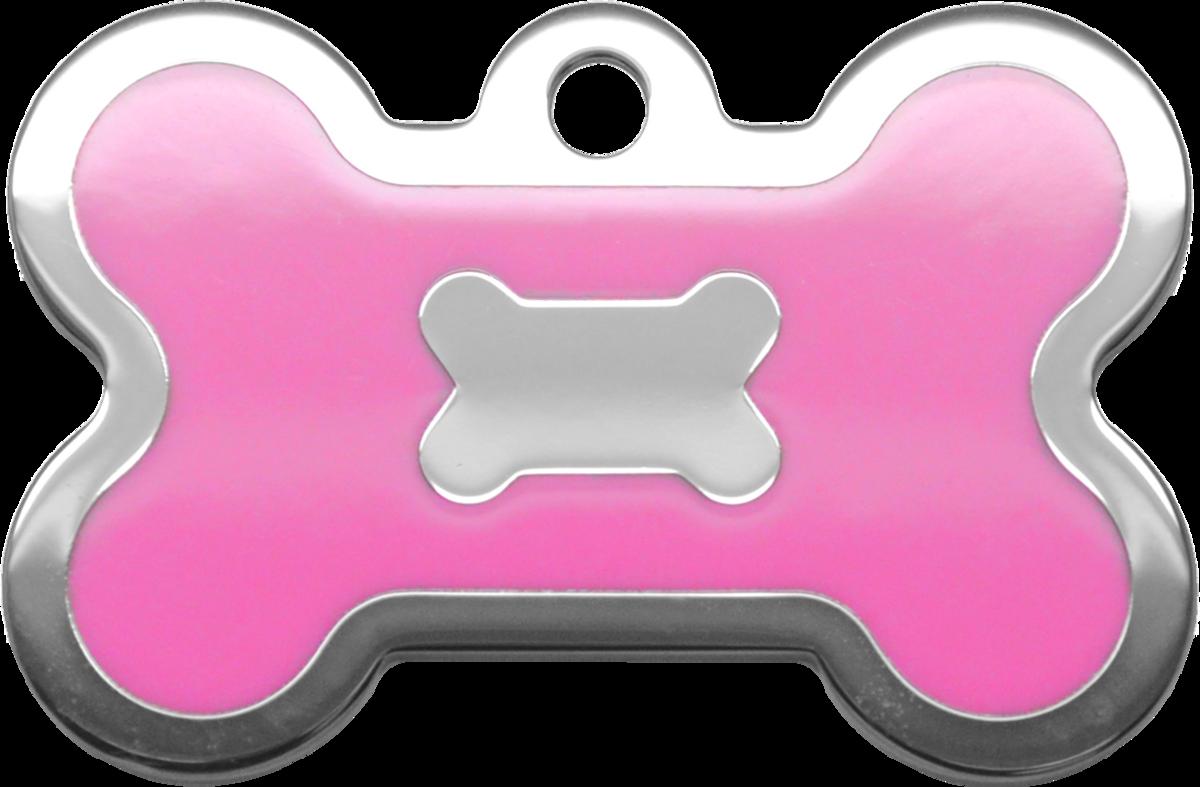 粉紅水磨膠大狗骨