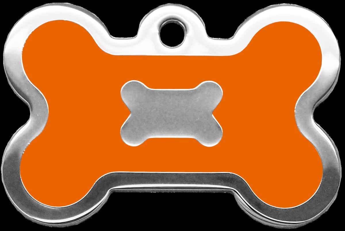 橙色水磨膠大狗骨