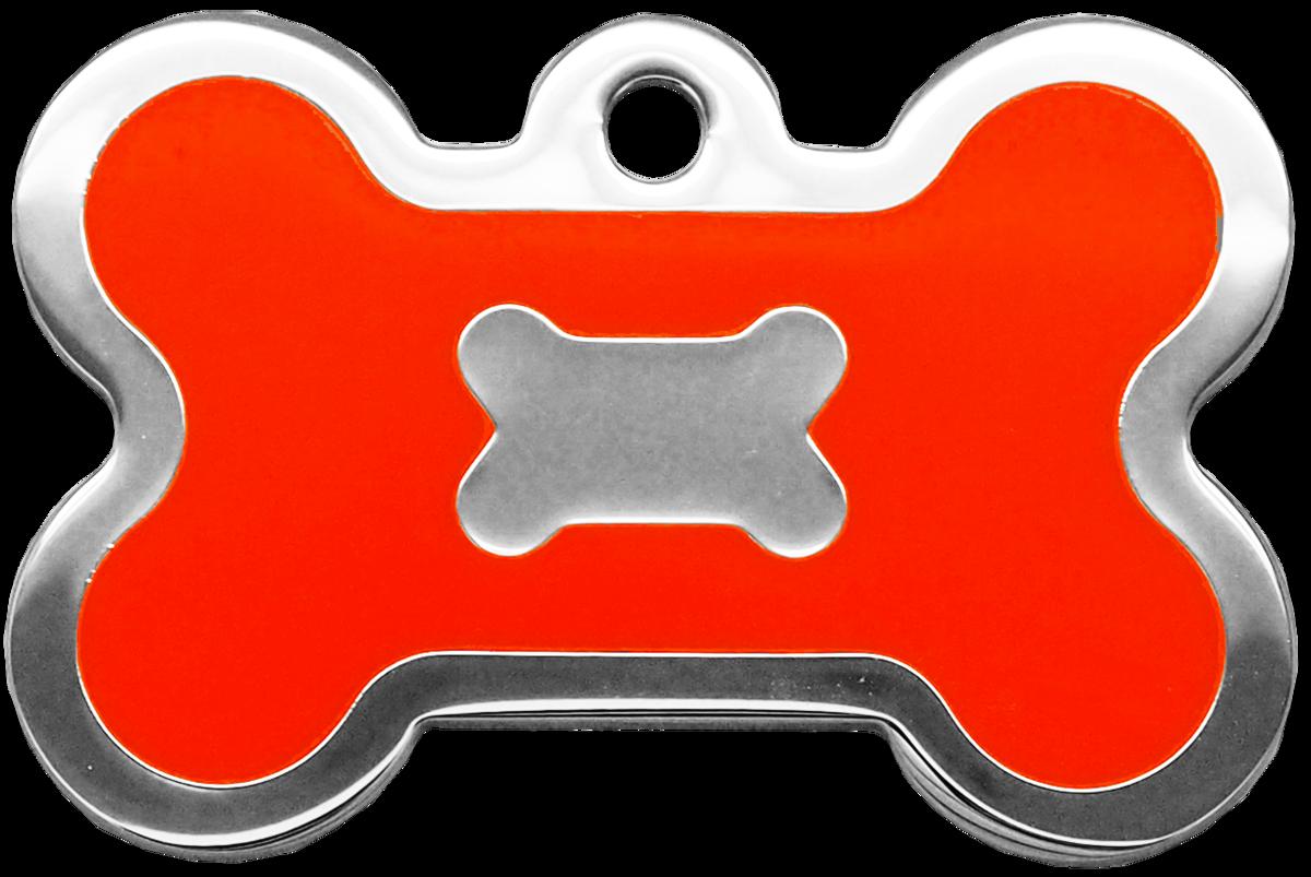 螢光橙水磨膠大狗骨