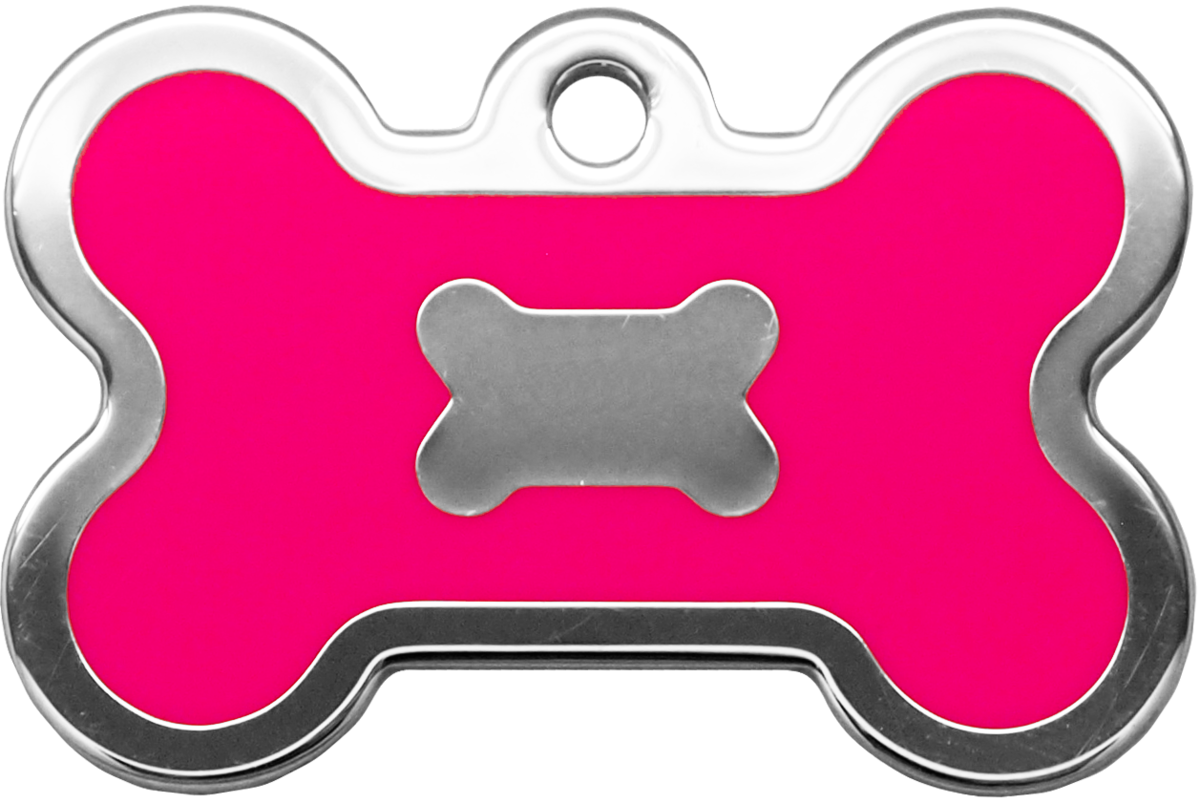 螢光粉紅水磨膠大狗骨