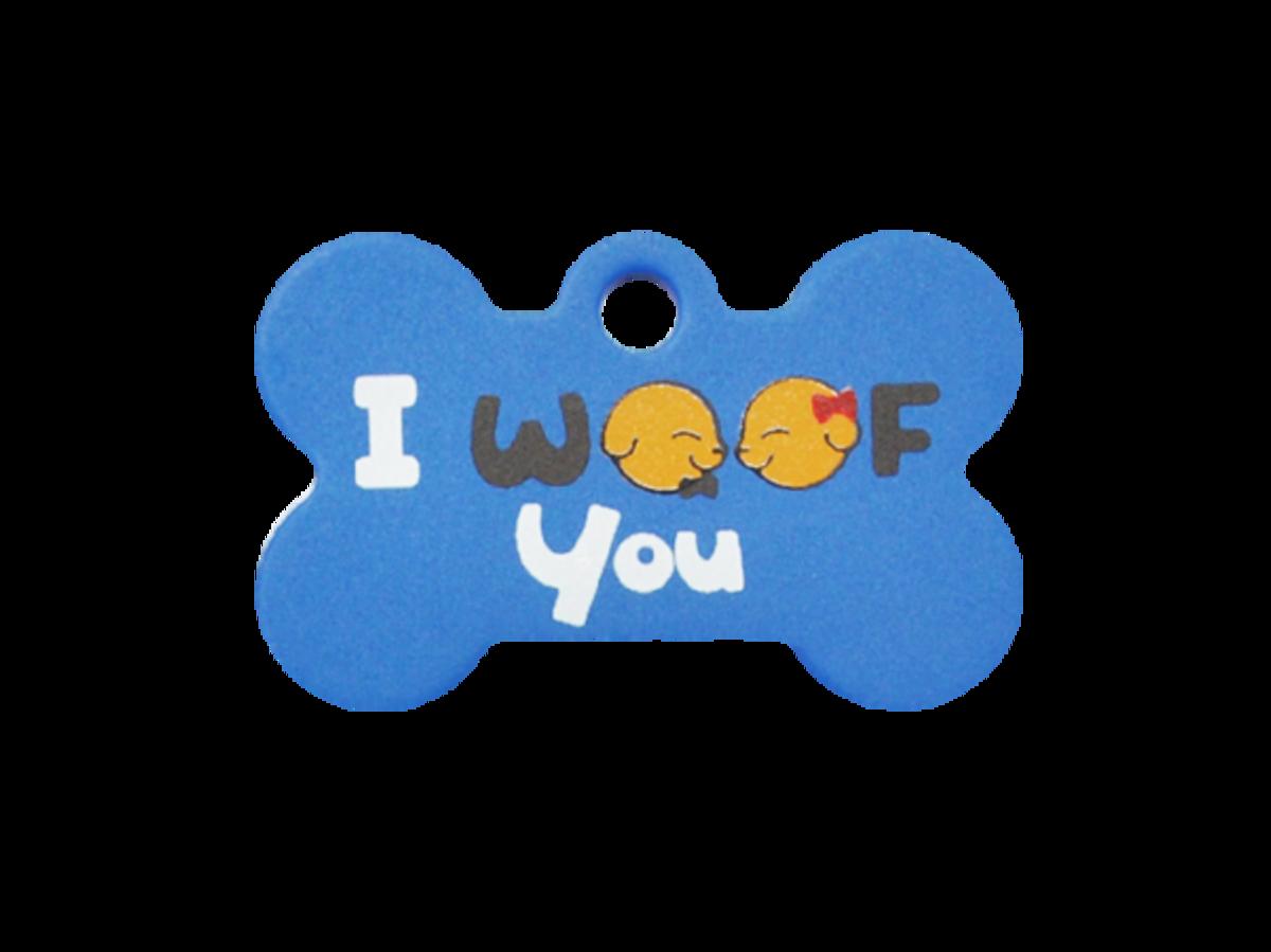 """喇叭""""I WOOF YOU"""" 小狗骨"""