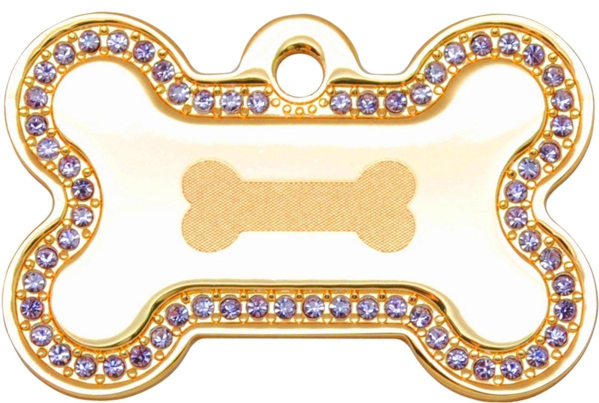 金色紫色石狗骨