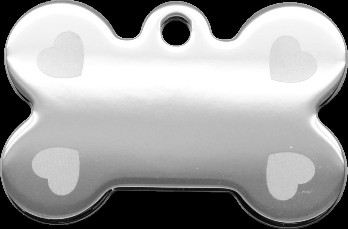 鐳射心型大狗骨