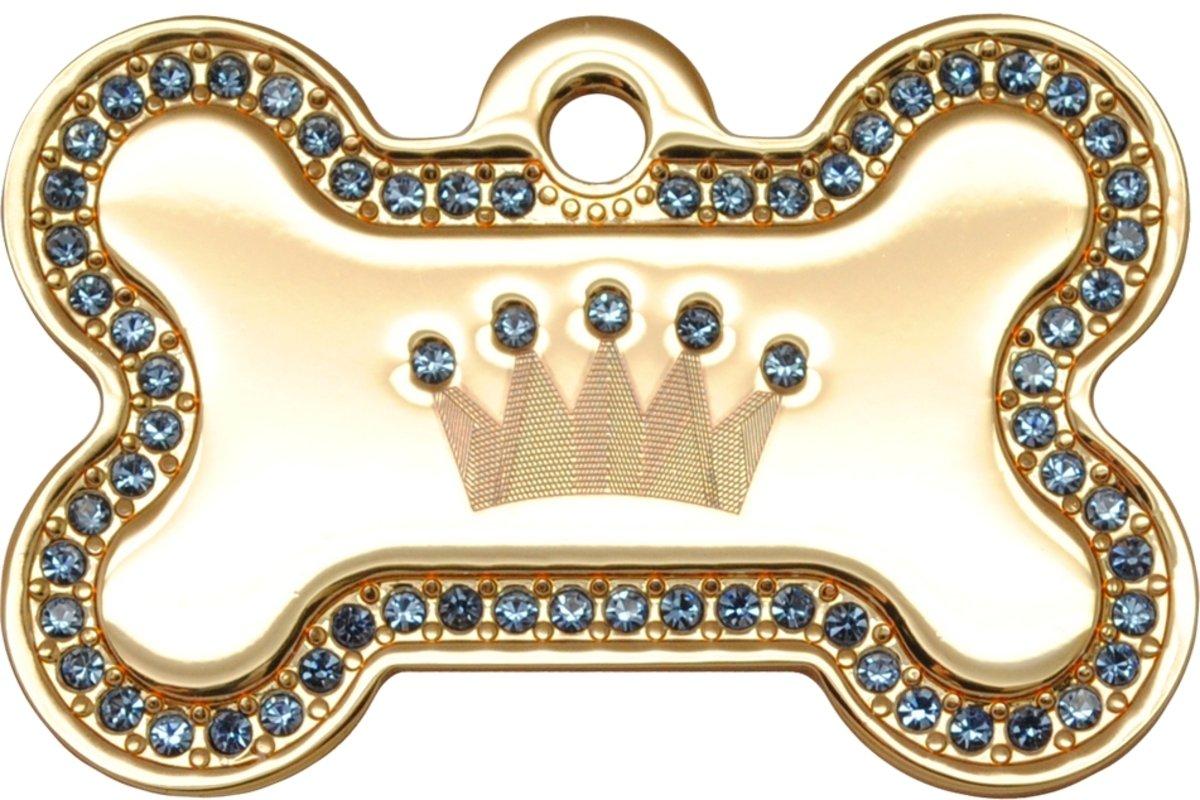 金色藍色石皇冠狗骨