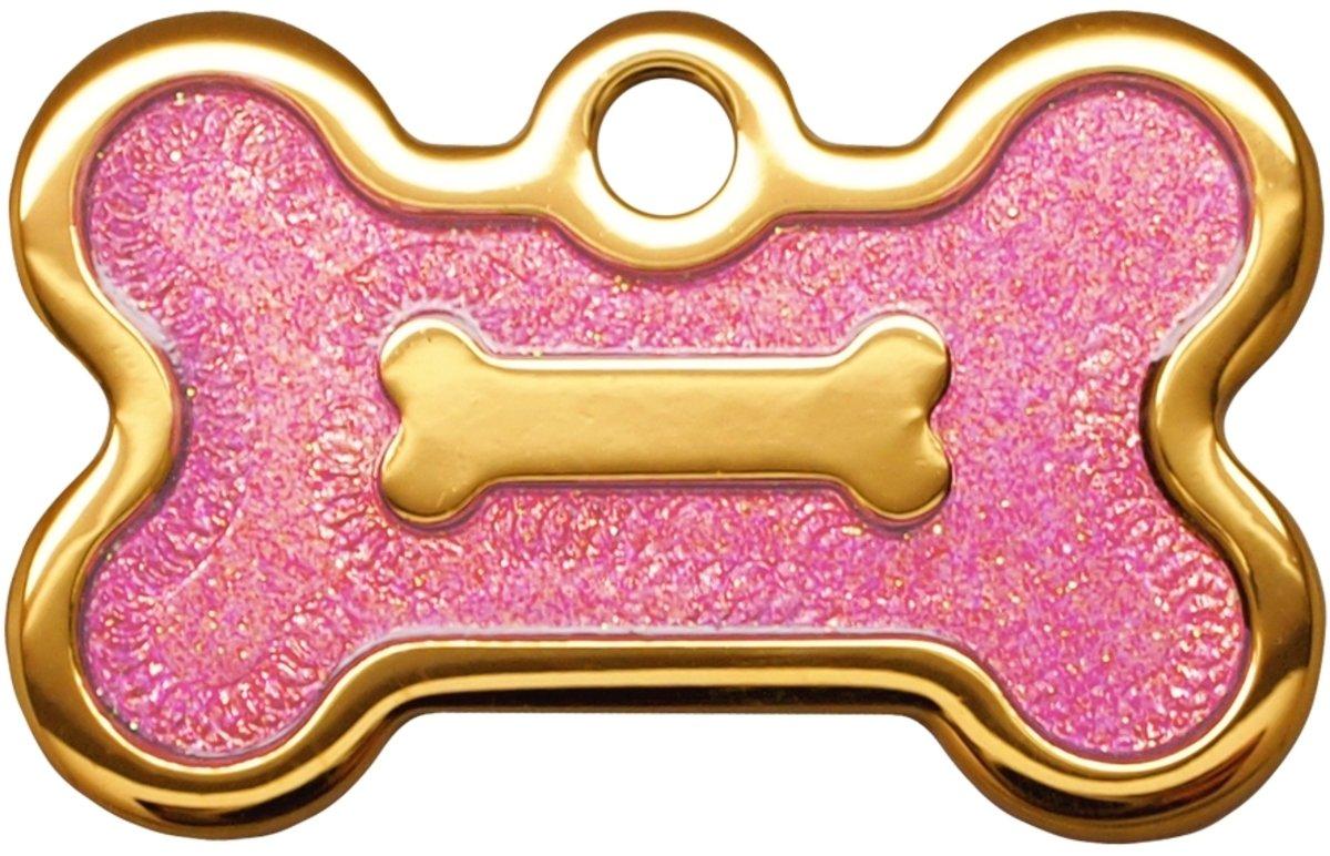 金色小狗骨牌紫水晶滴膠閃粉