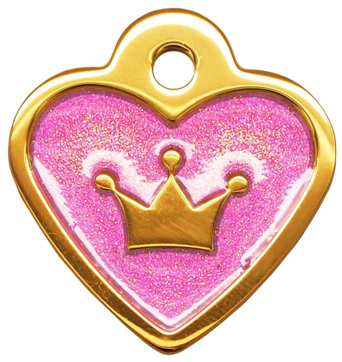 金色小心皇冠牌紫水晶滴膠閃粉