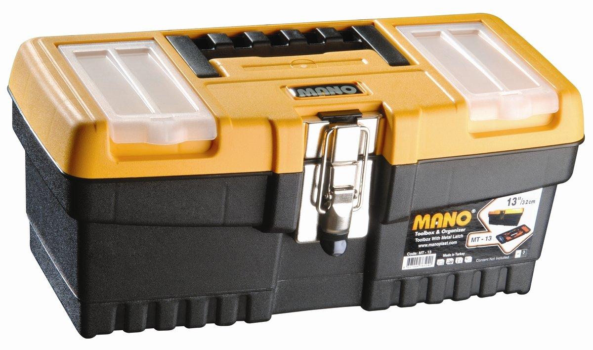 """MT-13 MANO 13"""" 鐵扣工具箱"""