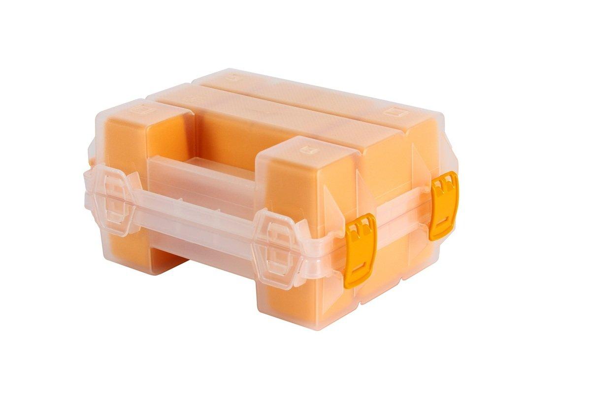 TS-ORG-7Y MANO 摺合式多格工具盒 (12格) 透明黃色