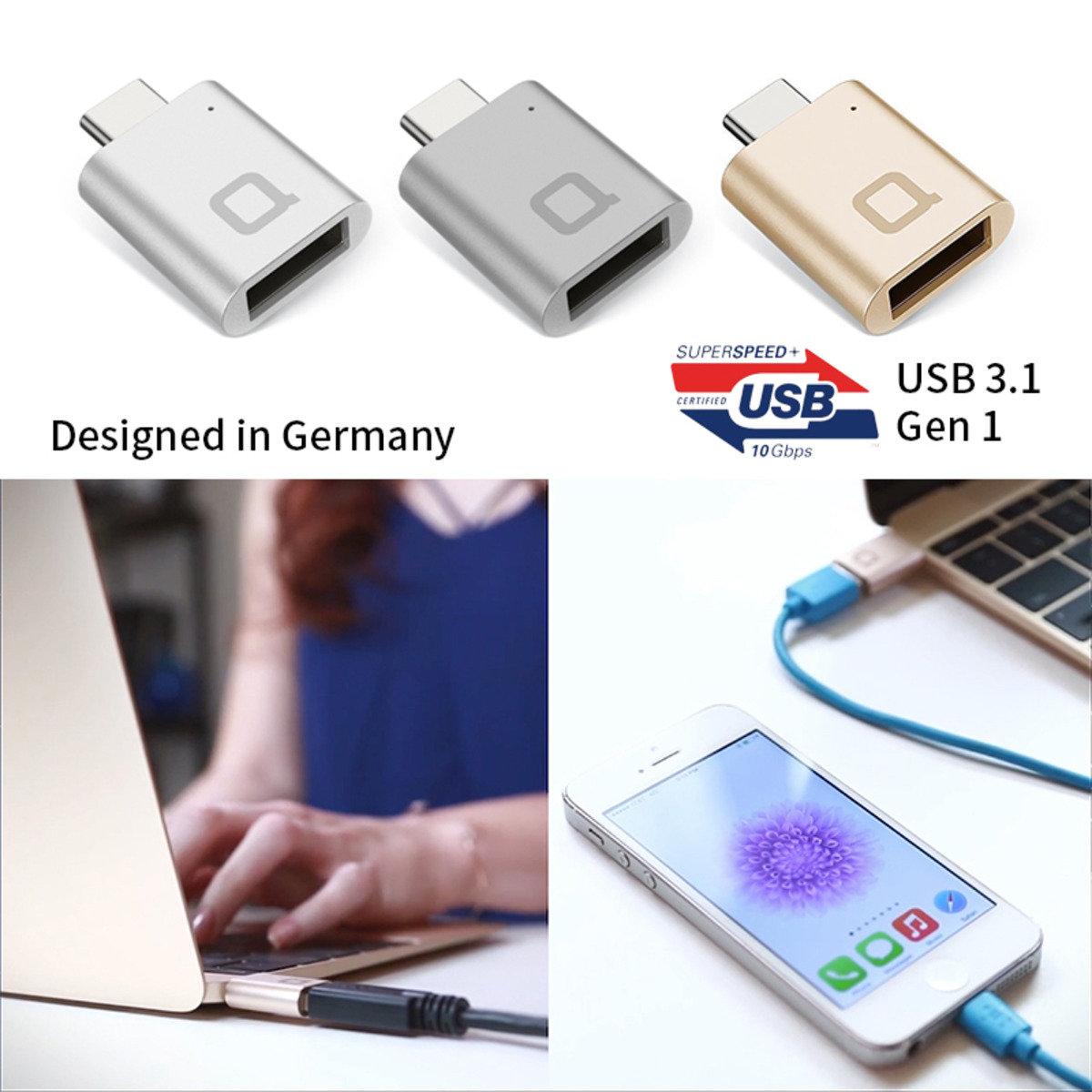 USB-C/USB 3.0 迷你轉接頭 - 德國設計(MacBook適用)