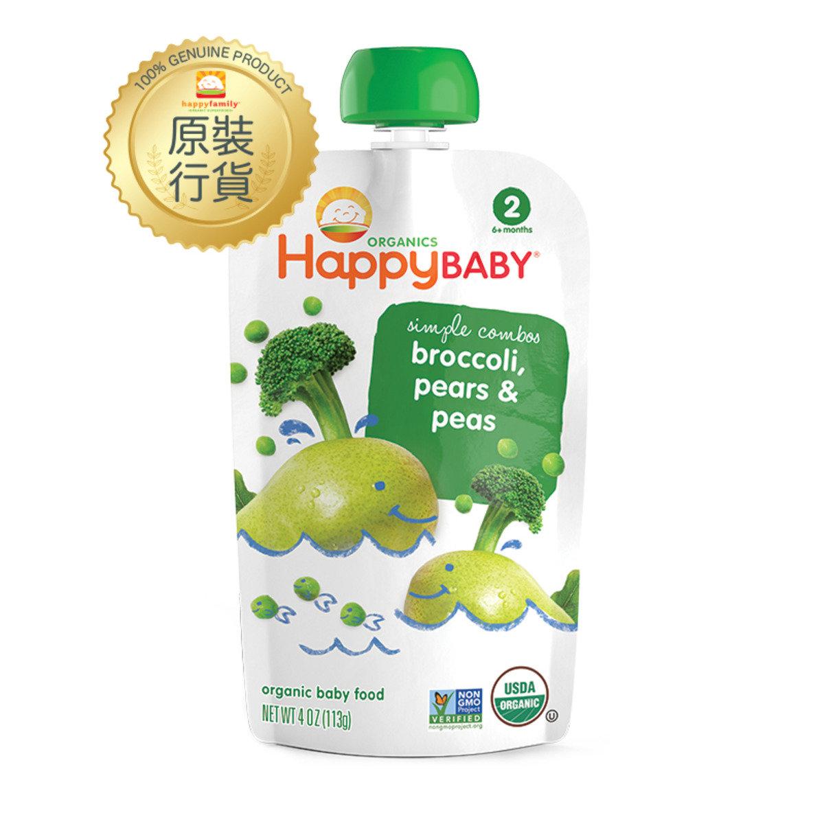 有機西蘭花,香梨&青豆嬰兒食品 113g (第二階段)