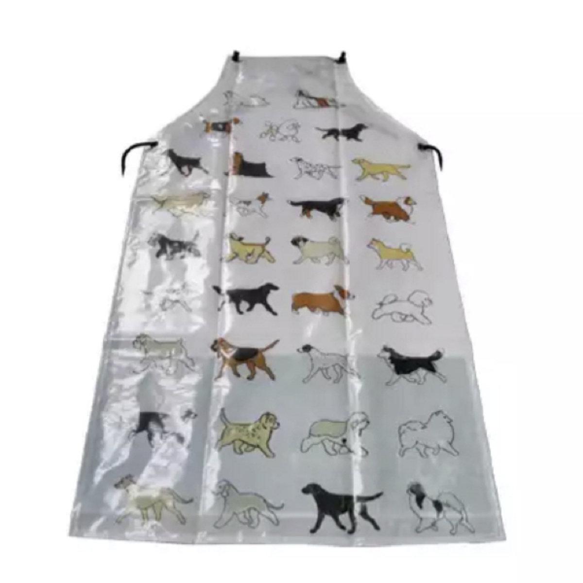 寵物美容-狗狗圖案圍裙 X-100