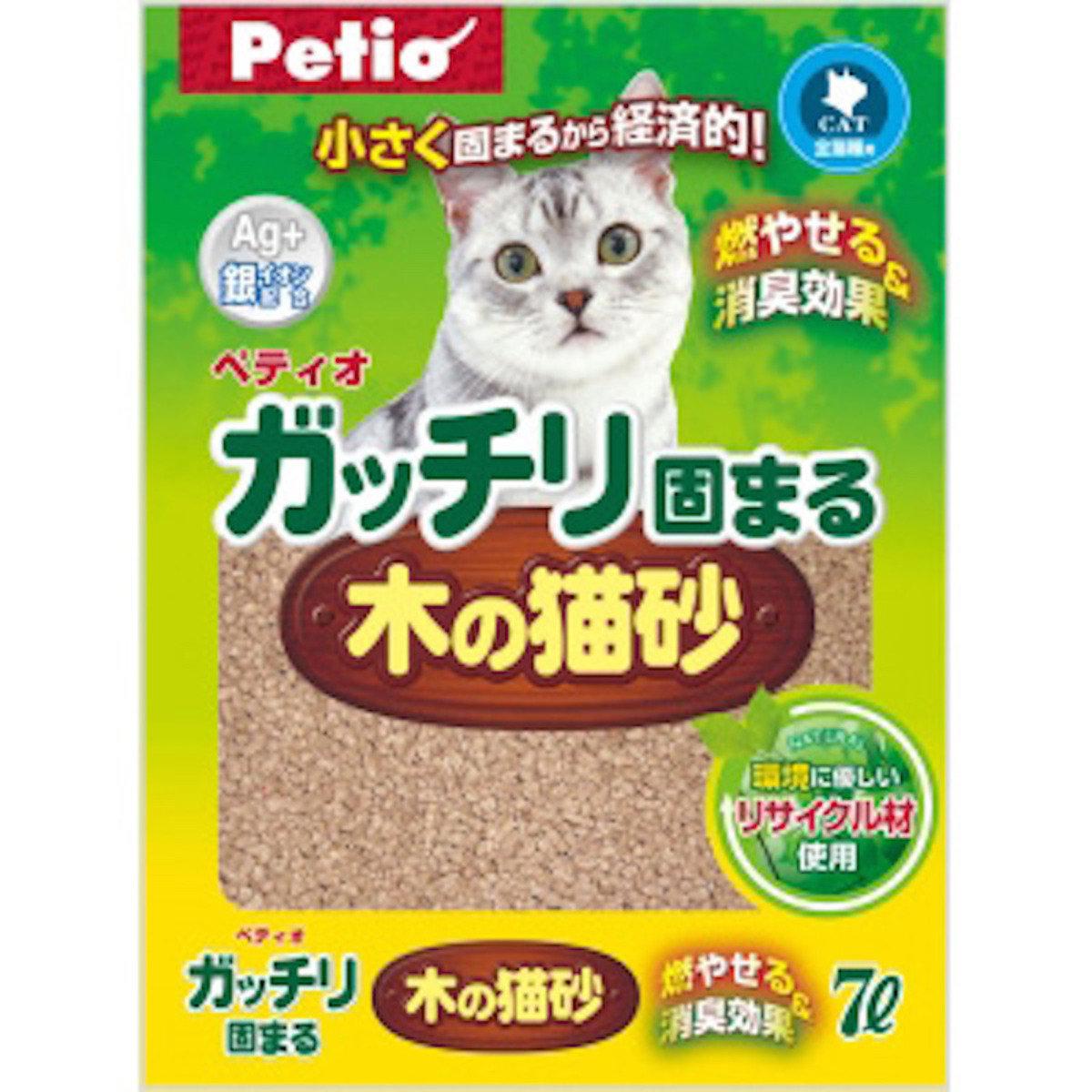 [日本直送]貓專用 Petio 特強凝結抗菌木砂(W21156)7L