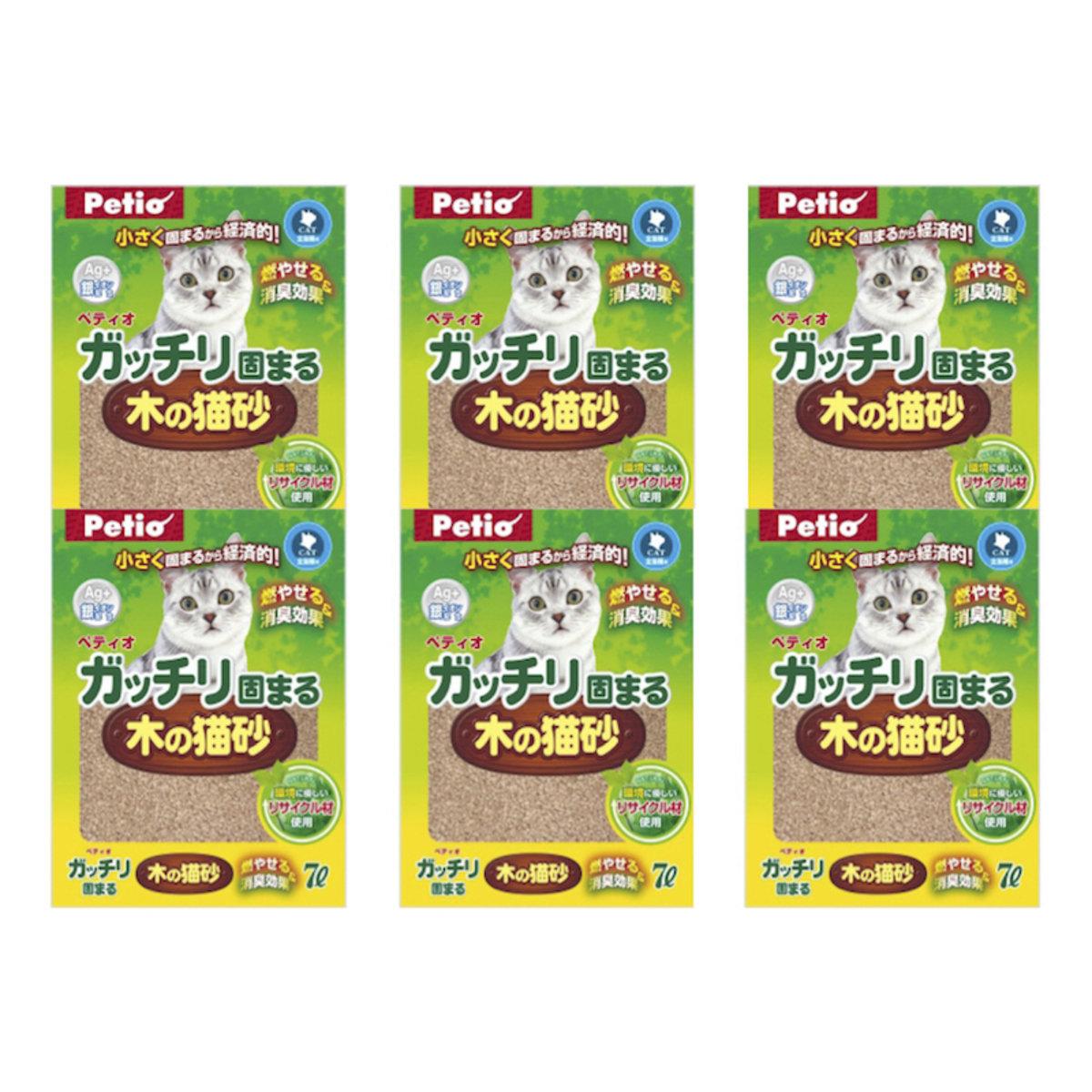 [日本直送]貓專用 Petio 特強凝結抗菌木砂(W21156)7Lx6