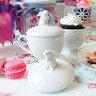 小白兔餐碟/飾物盤 17.5cm x 1 個 + 小白兔茶杯連蓋 x 1 個 +小白兔飾物盤/ 雞蛋盤/調味盤 x 1 個