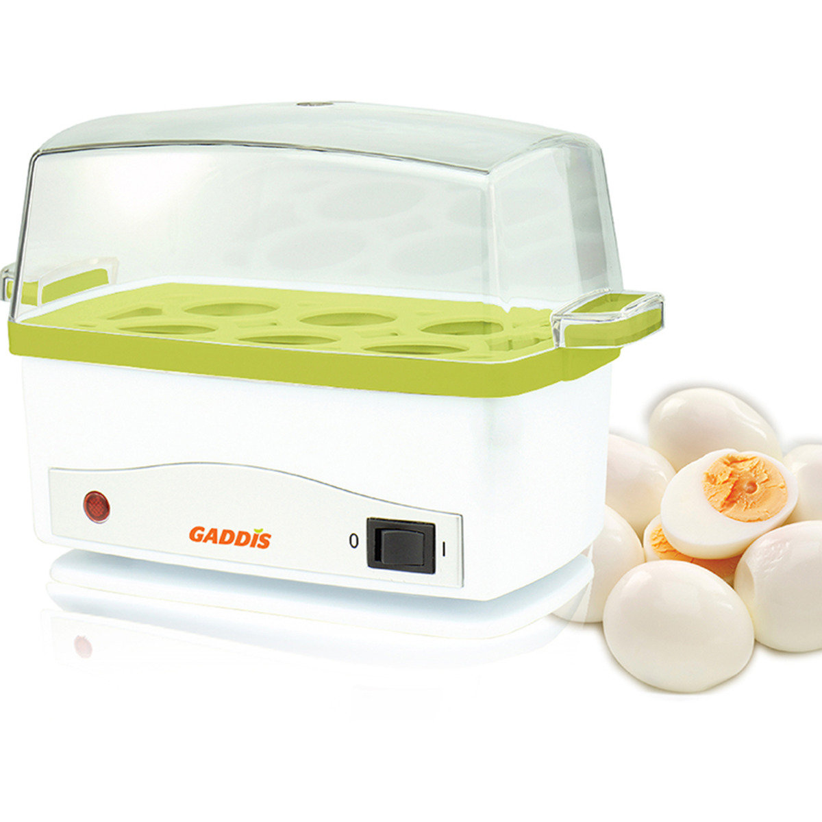 自動計時多功能蒸蛋蒸飯器 (綠色)