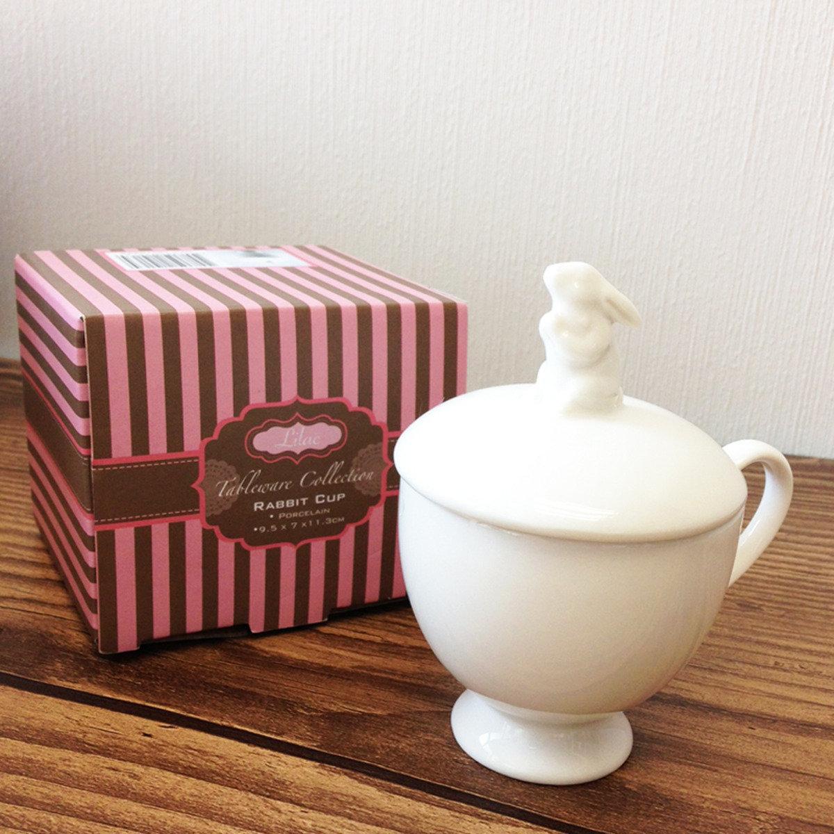 小白兔茶杯連蓋