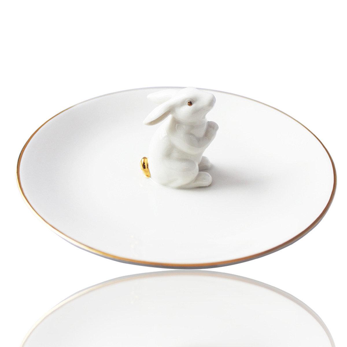 小白兔餐碟/飾物盤 17.5cm