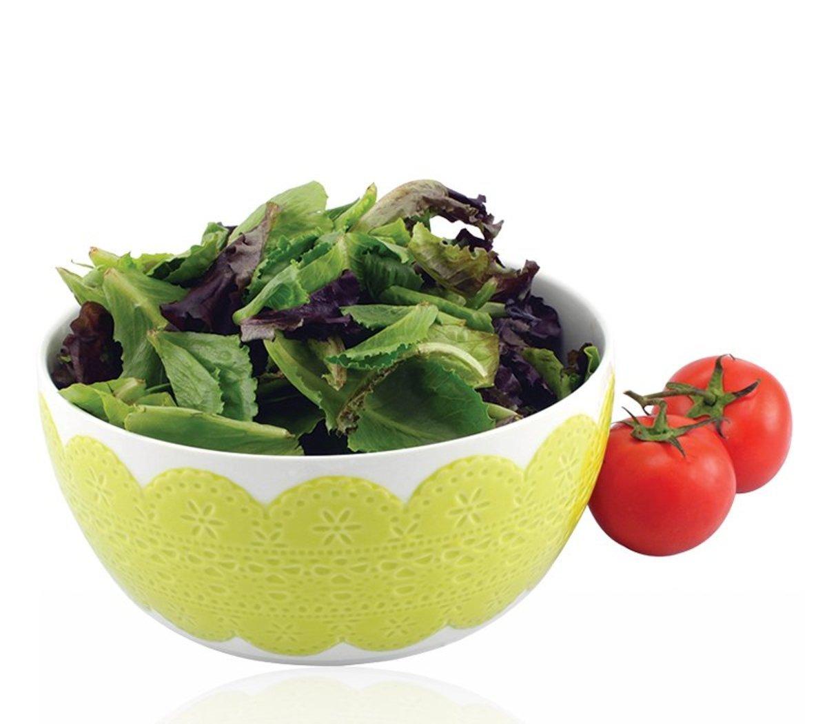 綠色立體蕾絲碗20cm