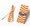 繽紛紙吸管 (橙色斜紋) 50pcs/PACK