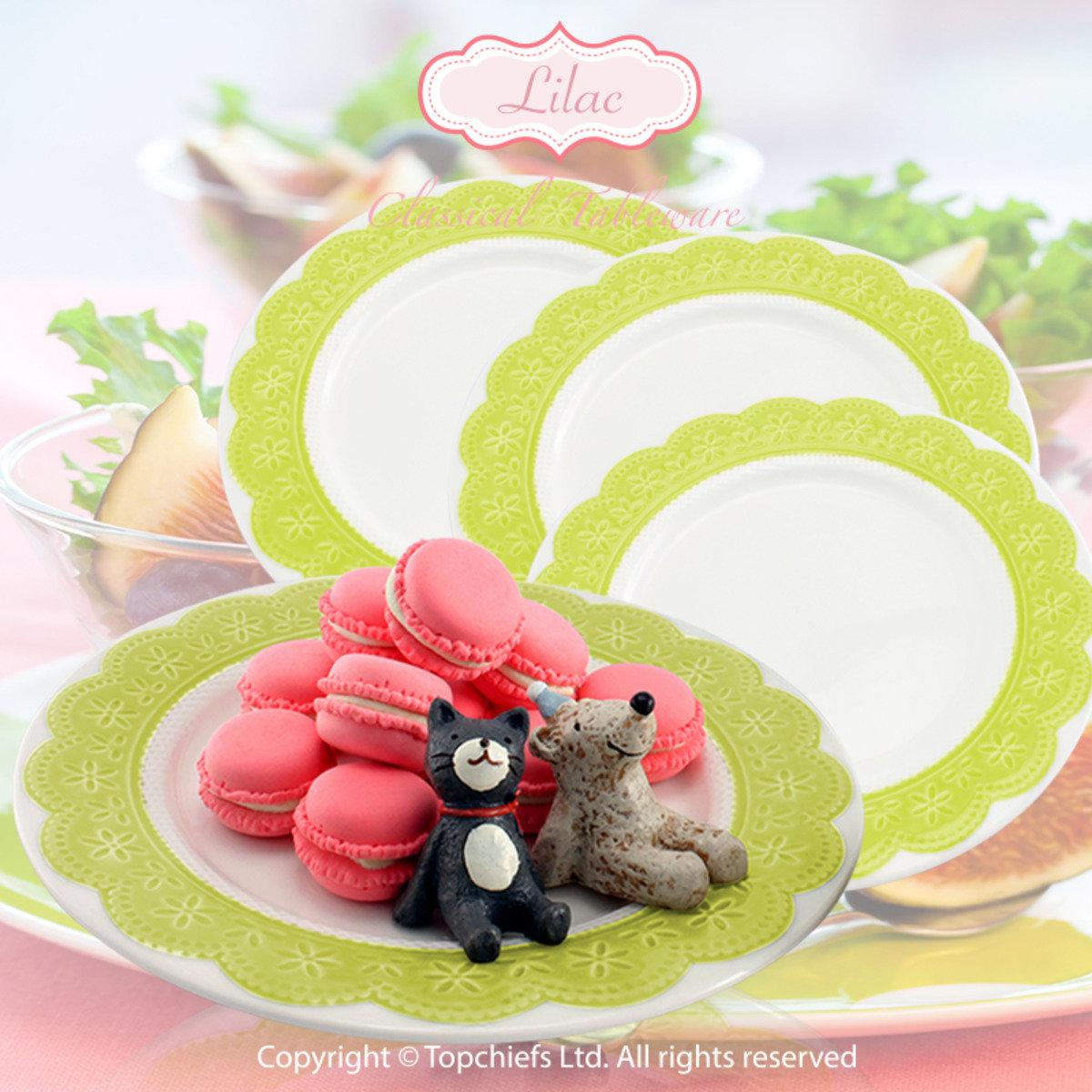 綠色立體蕾絲餐碟 x4