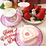 小白兔餐碟/飾物盤+粉紅色小鳥杯及碟 x 2套