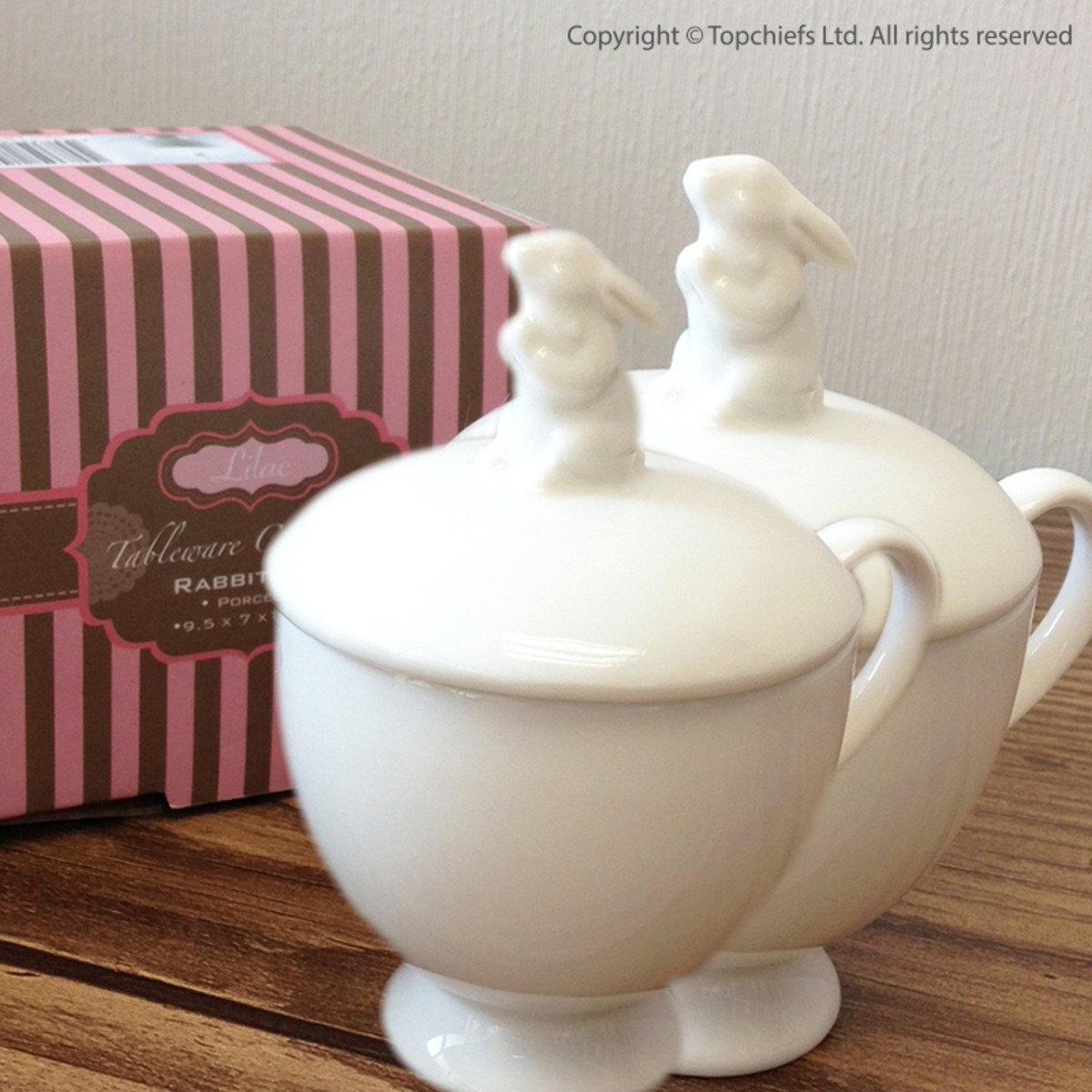 小白兔茶杯連蓋 x 2